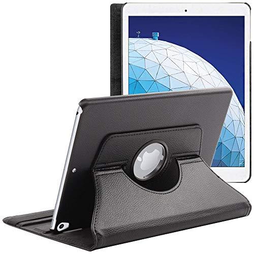 ebestStar - Hoes compatibel met iPad Air 2019 Air 3 Roterende hoes, 360° Draaibare Etui, beschermhoes standfunctie, rotatie case cover, Zwart [iPad: 250.6 x 174.1 x 6.1mm, 10.5'']