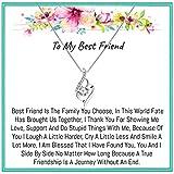 Onepurposegifts Best Friend Gift set, Best friend Necklace, best friend necklaces, Best friend Gifts, Best Friend birthday, Best Friend Gift (Twist Zicon)