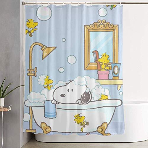 NHUXAYH Duschvorhang Snoopy Kunstdruck, Polyester Bad Dekorationen Sammlung mit Haken 60 X 72 Zoll