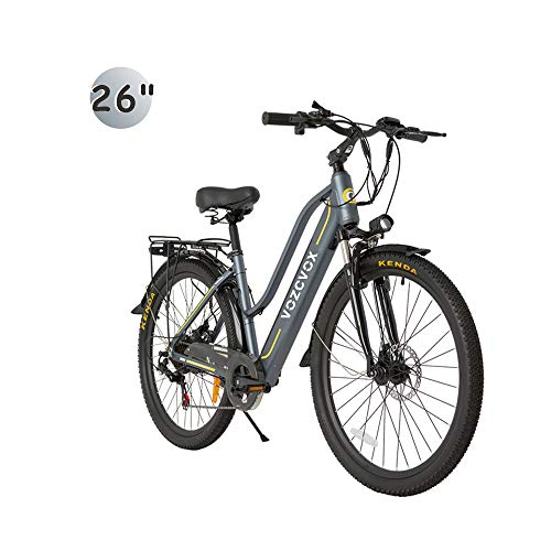 Skyzzie Bicicletta elettrica da Trekking Bici Elettrica da Citt Mountain Ebike con Batteria Rimovibile agli Ioni di Litio da 48 V/9.6Ah, 350 W, 3 modalità, Shimano a 7 velocità,26'/24'