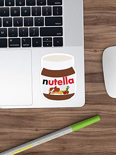 Nutella Sticker Vinyl Decal For Cars, Trucks, Water Bottle, Fridge, Laptops (Longest Side 6