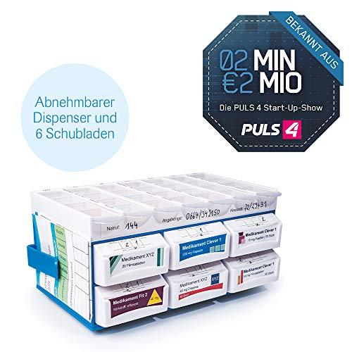 Mediashop PillBase Medikamentenbox Aufbewahrung von Medikamenten Tablettenbox Pillenbox Medikamentenaufbewahrung Dispenser Wocheneinteilung   stapelbar Pill Base   2 Minuten 2 Millionen Powered by