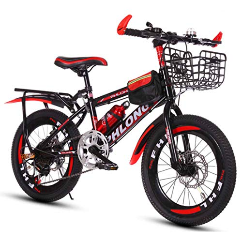 MUYU 20(22,24) Inch Kids Bike voor 3-10 jaar oude meisjes, voor en achter dubbele schijfremmen