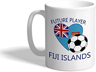 Cup Pitcher كأس الترمس Funny Coffee Mug Coffee Cup Future Soccer Player Fiji Islands White Ceramic Tea Cup 11 OZ Design Only