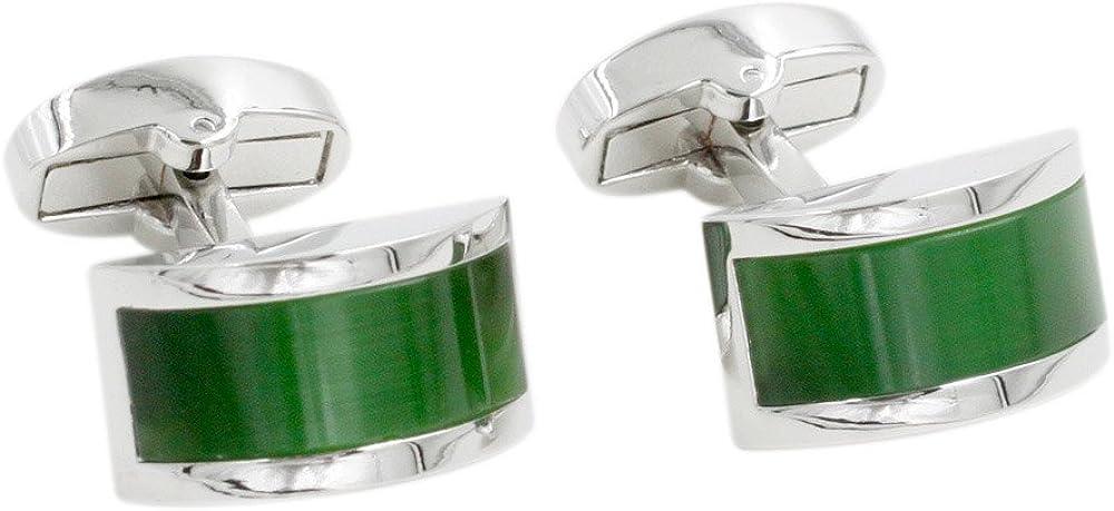 Emerald Green Stone Cufflinks   55th Anniversary Present for Him   Emerald Wedding Anniversary   Cuff Links