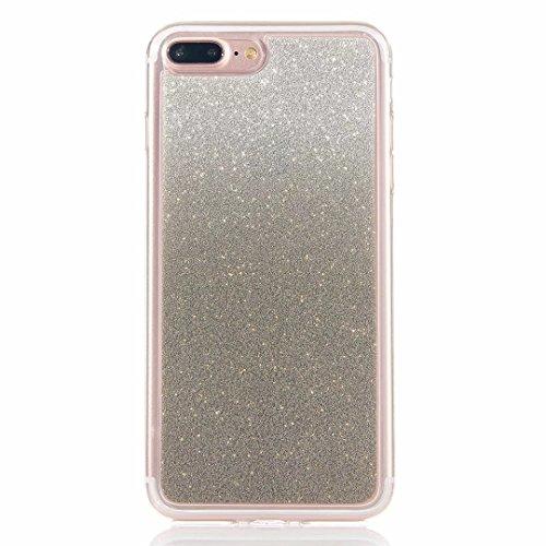MUTOUREN iPhone 7 Plus Caso Funda de movil Silicona Funda la Caja del teléfono TPU Resistencia a la caída de Silicona Concha,Calidad Alta Moda Cambio Gradual Matorral Shell Soft - Negro