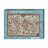 Heye HY29871 Puzzles Map Art, 1000 Pc-Retro World