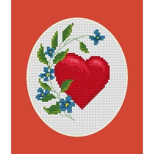 Magic Needle Cross Stitch Kit Lovely Heart
