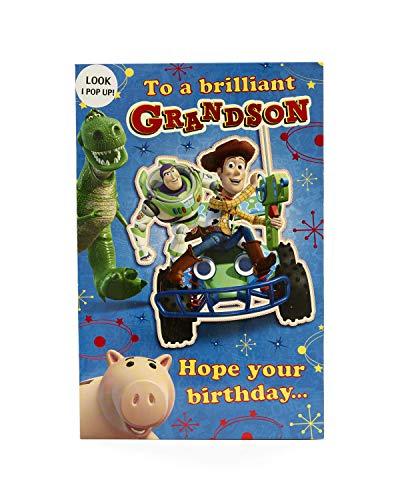Carlton 418253-0 Disney Toy Story Buzz lichtjaar en Woody Grandson verjaardagskaart