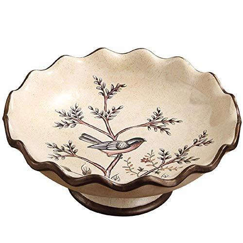 DONDOW Fruit Bowl Frutero Partido de cerámica Mesa de Centro Moderna decoración Creativa Multipropósito de contenedores Decoración
