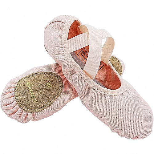 S.lemon Elástico Lona Zapatillas de Ballet Zapatos de Baile para Niños Niñas Mujeres Hombres Rosa (39 EU)