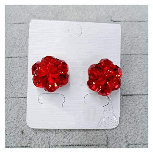 LDH Flower Rich Earrings, Cubic Zirconia Stud Earrings Set Simple Earrings, The Best Gift for Women and Children (Color : C)