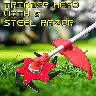 BGTOOL 6 Steel Cutter Head Universal fit Replacement Blade Mulching Blade for Brush Cutter