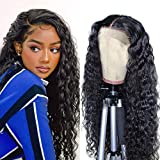 Lace Front Wigs Human Hair Wigs For Black Women 4x4 Lace Front Wigs Human Hair Pre Plucked Curly Water Wave Lace Front Wigs Human Hair 22Inch