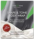 Body Wrap by Shape and Tone  Firming and Shaping Contouring Patch Slimming Body Wrap  New Improved Cellulite Wrap Body Wrap Treatment  All Natural Solution Slimming Wrap (5 WRAPS)