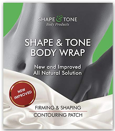 Body Wrap by Shape and Tone – Firming and Shaping Contouring Patch Slimming Body Wrap – New Improved Cellulite Wrap Body Wrap Treatment – All Natural Solution Slimming Wrap (5 WRAPS)