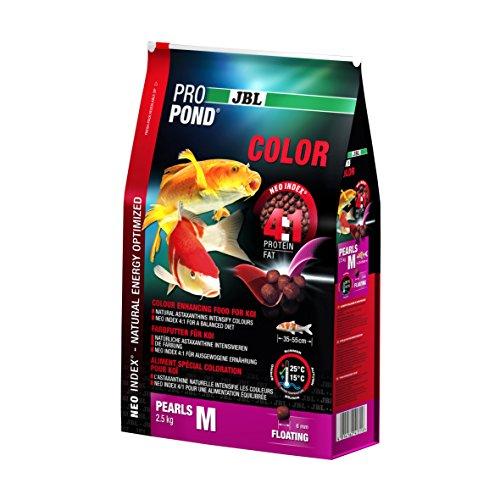 JBL Nourriture Colorée pour Koïs, Granules Alimentaires Flottants, Nourriture Spéciale, ProPond Color, Taille: M, 2,5 kg