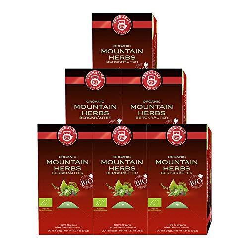 Teekanne Bio Bergkräuter, 6er Pack (6 x 36 g)
