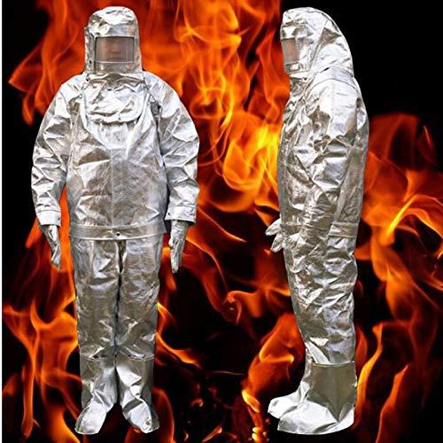 Brandschutz-Klage 1000 ° C Hochtemperatur Antiverbrühschutz Strahlenschutztuch Schutz Insulated Brandschutzanzug DFH04,XXXL