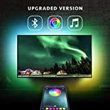 Nexillumi LED Strip Lights TV LED BackLight RGB LED Strip USB Powered for 24 Inch-60 Inch TV,Mirror,PC, APP Control Sync to Music, Bias Lighting, 5050 RGB for Android iOS