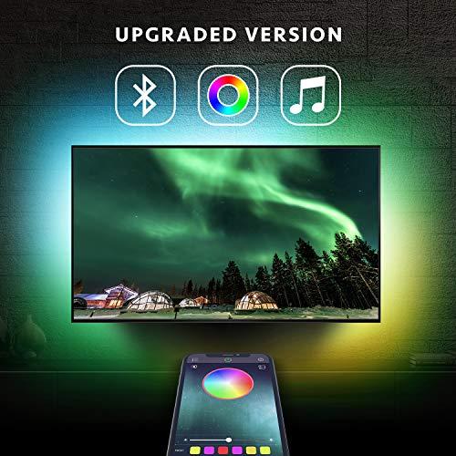 Nexillumi LED Strip Lights TV LED BackLight RGB LED Strip USB Powered for 24 Inch-60 Inch TV,Mirror,PC, APP Control Sync to Music, Bias Lighting, 5050 RGB for Android iOS