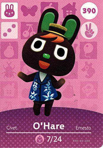 Nintendo Animal Crossing Happy Home Designer Amiibo Card O'Hare 390/400 USA Version