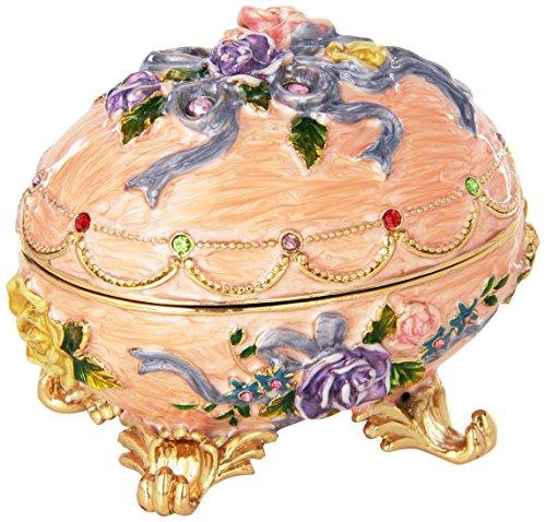 Design Toscano Renaissance Collection Romanov Estilo Esmaltado Couleur Rose Eggs, Rosa