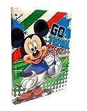 Scuola DIARIO Topolino Mickey Mouse Calcio Go Team 2020/2021 20x15cm + Omaggio portachiave Fischietto + Penna Glitterata