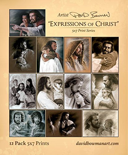 David Bowman Variety Package Set of 12 Expressions of Christ Prints- Jesus...