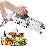 HYLH Mandoline Slicer, Cortador de Verduras multifunción, Juliana y rallador, lo Mejor para rebanar Alimentos, Frutas y Verduras de Acero Inoxidable Mandoline Slicer de Mano