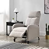 [en.casa] Sillón Relax Elegante Butaca Reclinable 102x60x92 cm Asiento cómodo Poliéster Marrón