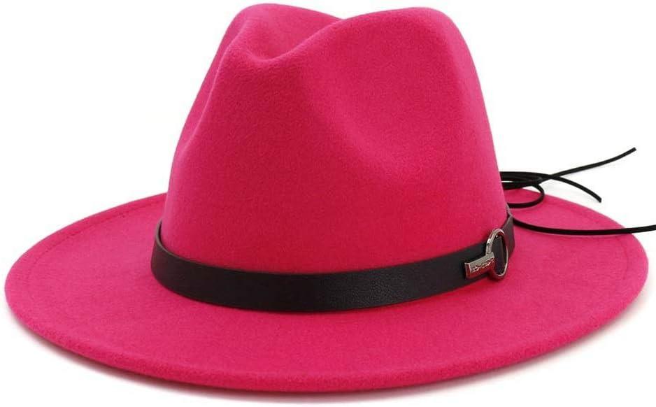 Men Women Fedora Hat Popular brand with Leather Belt Max 43% OFF Wide Ha Pop Jazz Brim