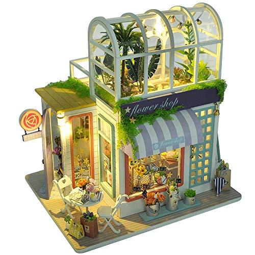 Fsolis Miniatura de la casa de muñecas con Muebles, Equipo de casa de muñecas de Madera 3D, más Resistente al Polvo y el Movimiento de música Regalo Creativo TD41A