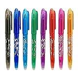 Bolígrafo de gel borrable, ariel-gxr 0.5mm bolígrafo de gel líquido, bolígrafo de secado rápido con goma de borrar para niños, estudiantes y adultos, paquete de 8 colores