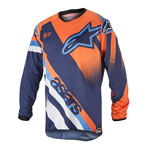 'N/A' Outdoor Downhill Suit-Racing Suit, Long-Sleeved Motorcycle Suit, Bicycle T-Shirt,Orange,L