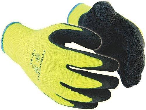 Portwest A140 - Guante Grip térmica, color Negro, talla Lar