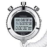 LINGJIA Cronómetro Cronómetro Silencioso, Cronómetro Deportivo Digital De Metal con Temporizador...