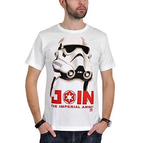 Star Wars Stormtrooper Join T-Shirt Creme Baumwolle hochwertig - XS