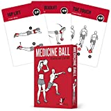 Medicine Ball Exercise Cards, Set of 62 - for a High Intensity Home or Gym Workout :: 50 Exercises...