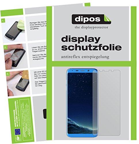 dipos I 2X Schutzfolie matt kompatibel mit Bluboo S8+ Folie Bildschirmschutzfolie
