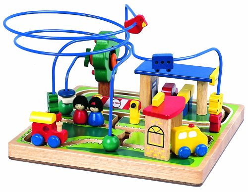 Santoys - Wooden Toys - Concentration - Vehicles Station Bead Frame