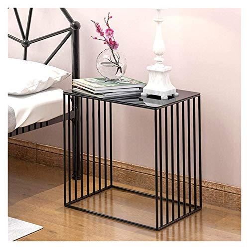 File cabinets Nachttisch, Nachttisch, Spind, Schlafzimmer, Nachttisch, Aufbewahrung, sparsam, kleiner Tisch, Wohnzimmer, kleiner Couchtisch, Beistelltisch (Farbe: schwarz)