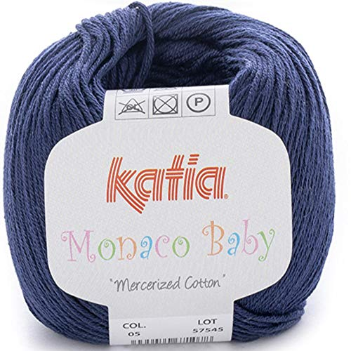 Lanas Katia MONACOBABY Ovillo de Color Marino Cod. 5