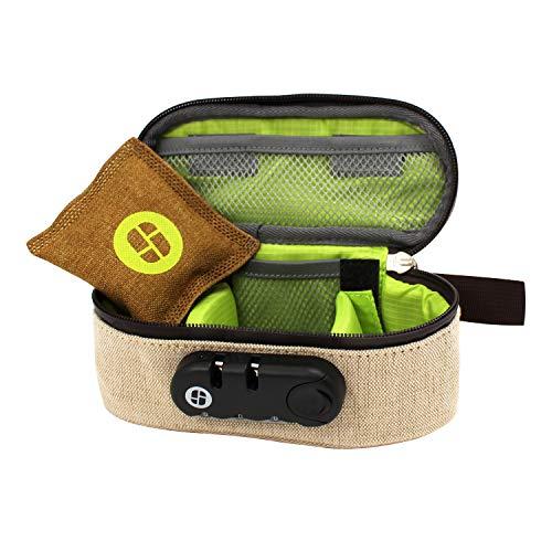 Stashlogix ProStash - Locking Stash Bag with Odor Control (Large, Hemp (beige))