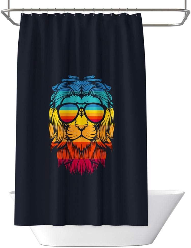 Cartoon animalsshower Curtain Over item handling ☆ Max 85% OFF showerliner Liner 3D Shower Cloth