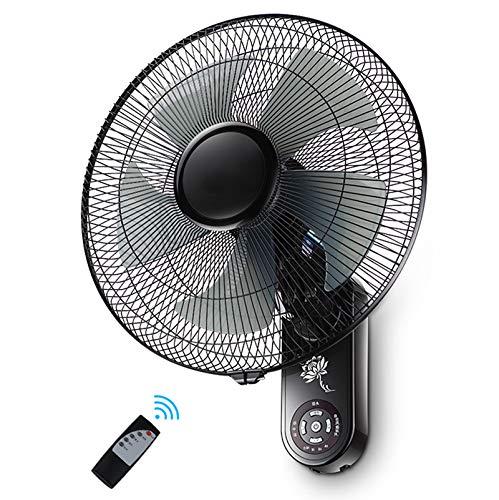 """CRKY Wandmontage-Lüfter/elektrisch 60 W/Schaukel/Kopfschütteln / 6-M-Fernbedienung / 7,5-Stunden-Timing/einstellbare Windgeschwindigkeit/zu Hause, Büro/sommerkühl / 16"""""""