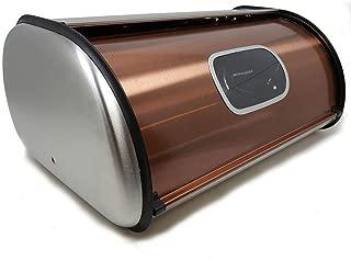 Lexi Home MW3580 Copper Bread Box Large