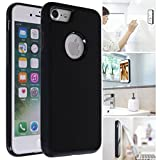 MONCA ] Anti Gravity Cellphone Case [Black] Magical Nano Technology Stick to Wall, Glass, Whiteboards, Tile, Smooth Flat Surfaces (Goat Case for iPhone 7 Plus)