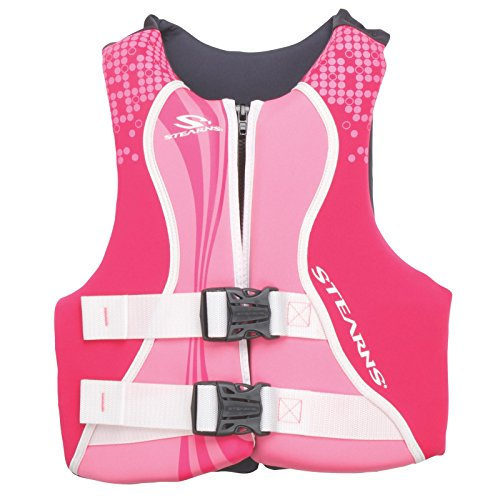 STEARNS Kids Life Vest | Youth Hydroprene Life Jacket | 50 to 90 Pounds, Pink/Purple