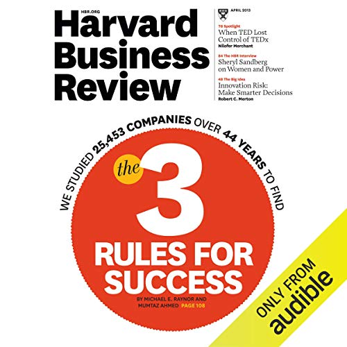 Harvard Business Review, April 2013 audiobook cover art